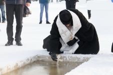Крещение Господне на озере Ханто